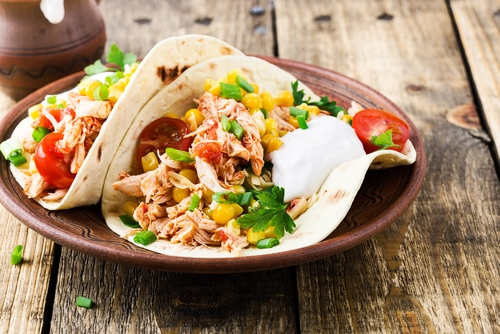 slow cooker bbq chicken fajitas