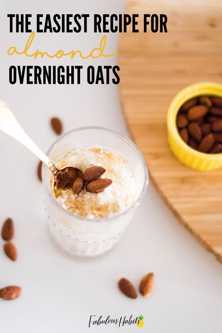 The easiest recipe for almond overnight oats that you'll ever come across. #breakfastsolutions
