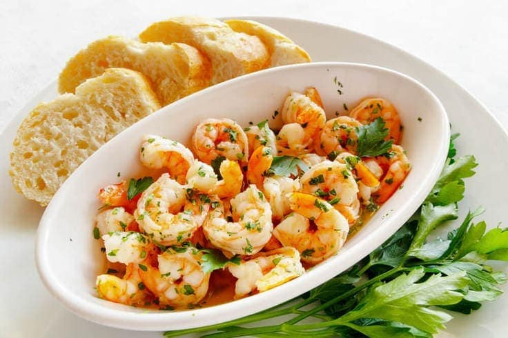 Easy Shrimp Recipe cooked in a delicious garlic butter