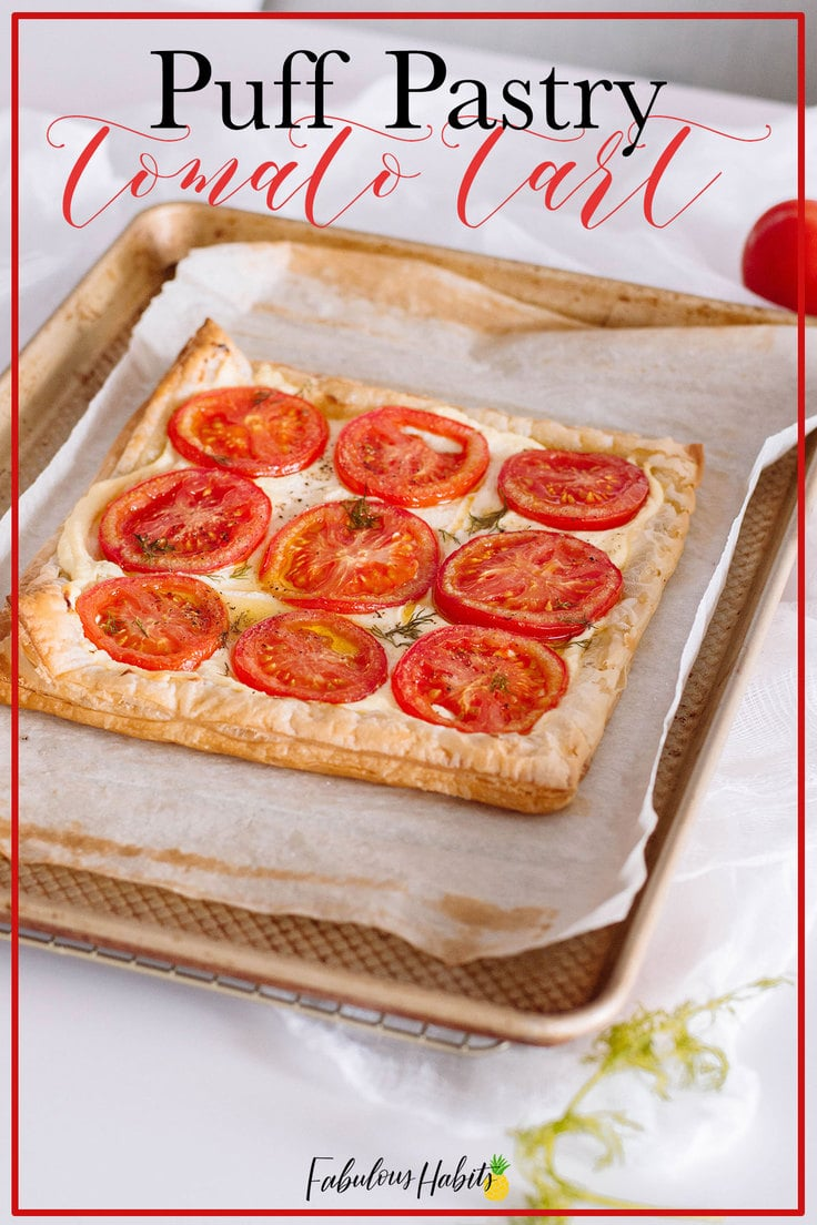Puff pastry doesn't have to be intimidating! This puff pastry tomato tart will surely impress your guests. #tomatotart