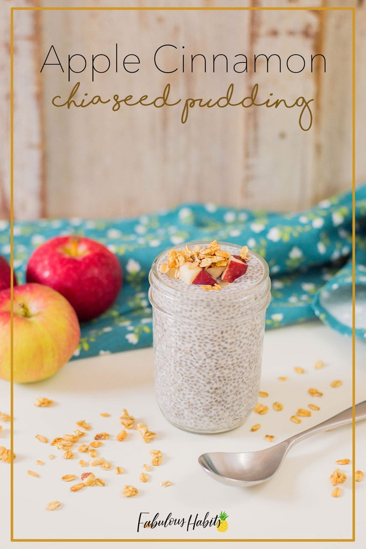 When you're on the go, this apple cinnamon chia pudding will be there to save your hectic morning. Guess what? It's incredibly easy to make! #chiaseedpudding