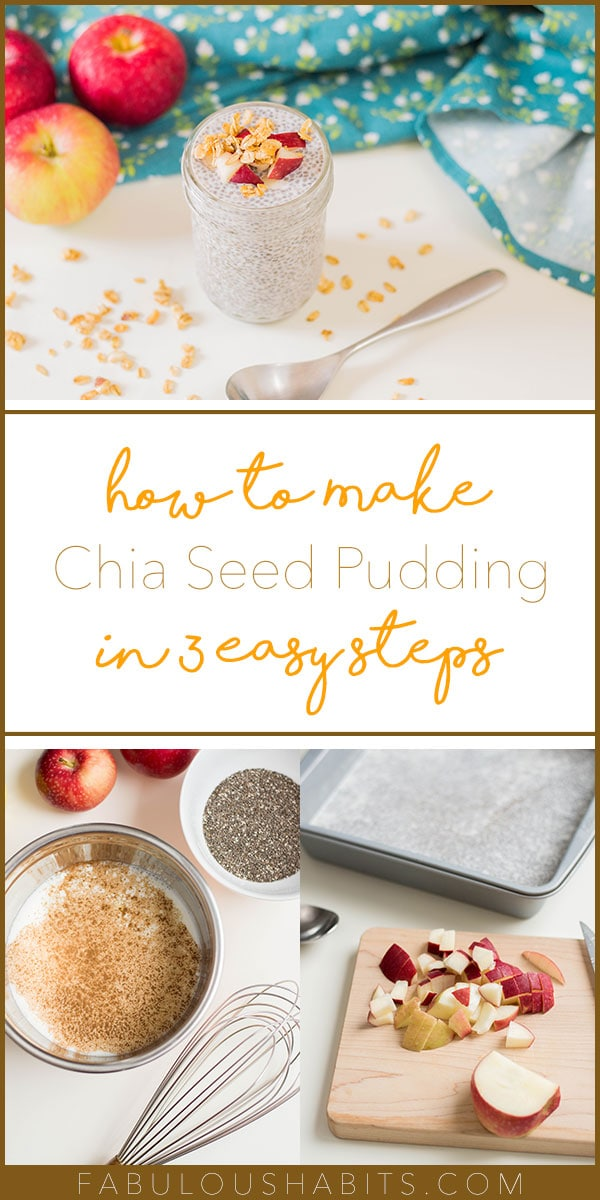 Chia seed pudding in 3 easy steps! Whip up this Apple Cinnamon Chia Pudding for your family - a huge relief for your busy morning routine! #busymornings #breakfastsolution