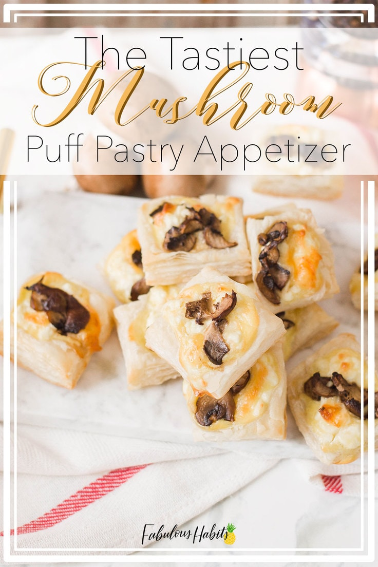 This mushroom puff pastry appetizer is not only easy to whip up, but they'll total impress your guests at your next dinner party. #puffpastryappetizers