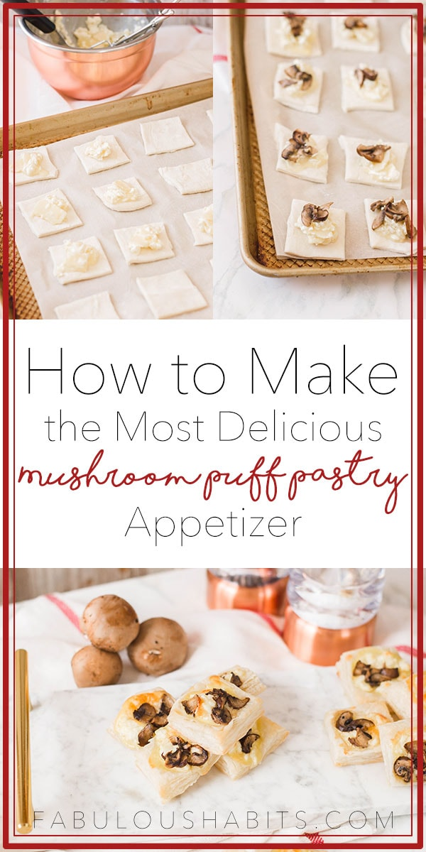 How to make the most delicious mushroom puff pastry appetizer - totally perfect for your next dinner party! #homemadeappetizers