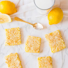 Putting a tropical twist to a family favourite - love how these Coconut Lemon Bars turned out! #lemonbars