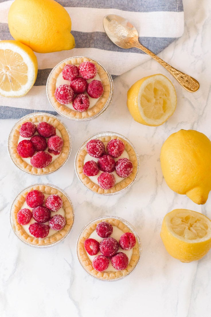 Raspberry lemon tarts make the perfect flavour profile - so sweet and so tart all at the same time!