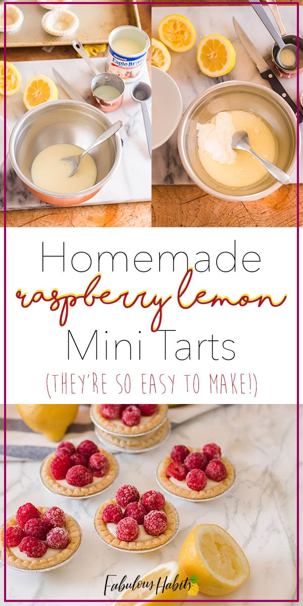 These homemade raspberry lemon mini tarts are absolute perfection! So good! #minitarts