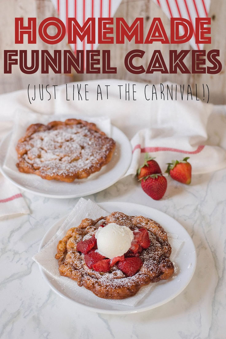 Bring carnival deliciousness right to your home with this delicious Homemade Funnel Cake recipe. Topped with confectioners' sugar, strawberries and ice cream, the flavor profile to this funnel cake is out of this world!