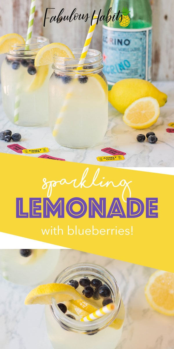 Need a refresher? Then look no further because this Sparkling Lemonade with Blueberries recipe will quench your thirst! #blueberrylemonade