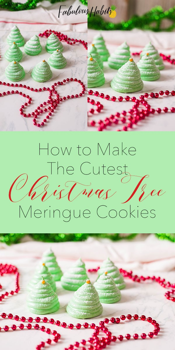 Our Christmas Tree Meringue Cookies are almost too good to eat… almost! Check out how to whip-up these sweet little treats, complete with a golden sprinkle and powdered sugar.