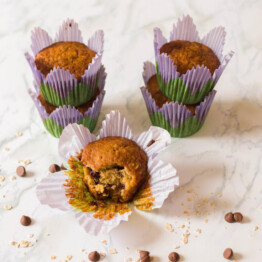 Chocolate chip oatmeal muffins.