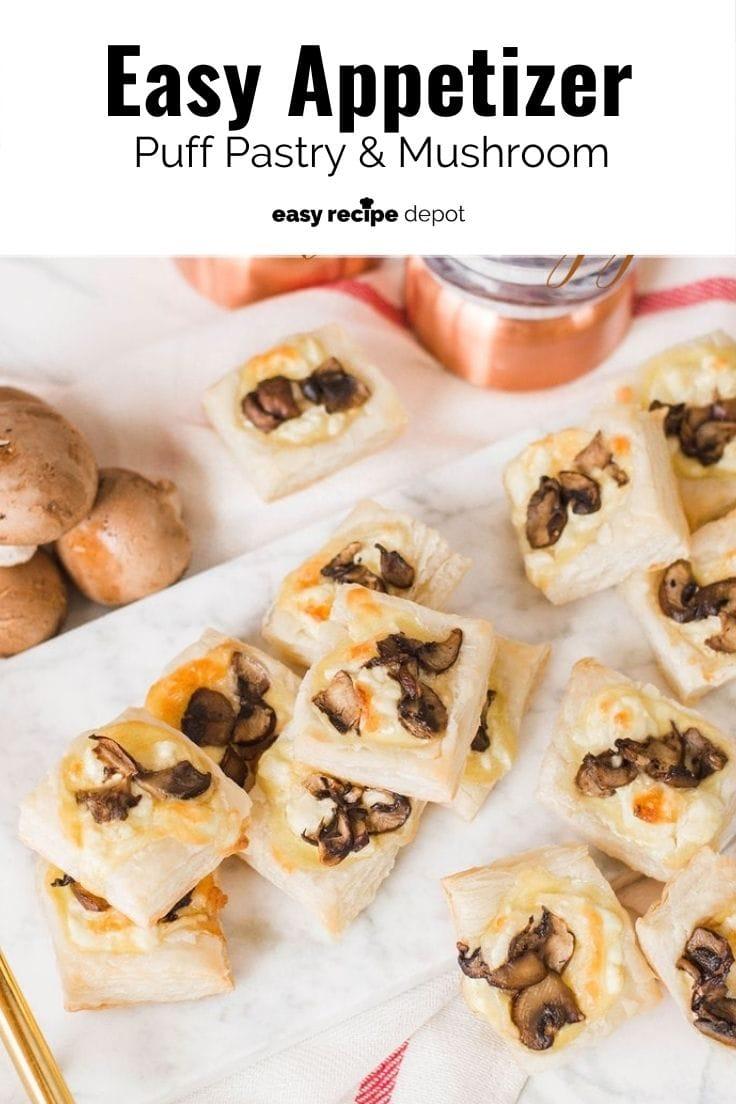 Easy appetizer mushroom puff pastry.