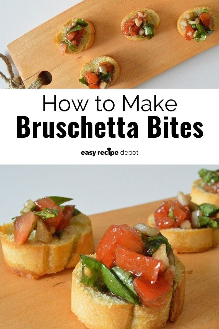 How to make bruschetta bites.