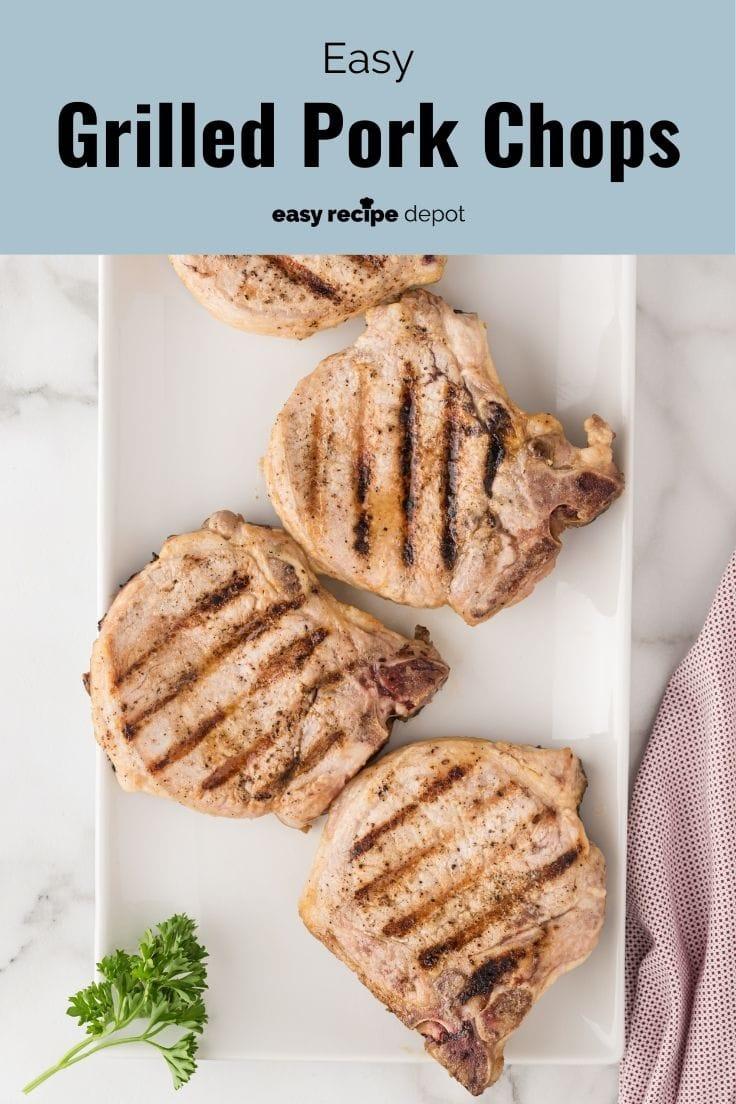 Grilled bone in pork chops.