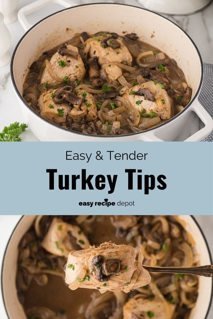 turkey tips with mushrooms and onions