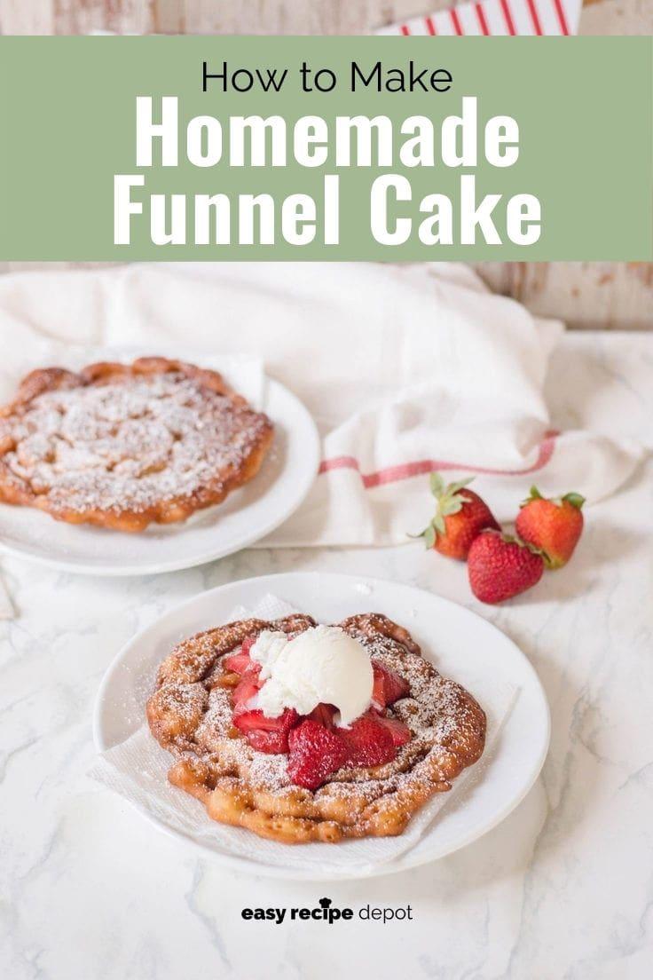 How to make homemade funnel cake.