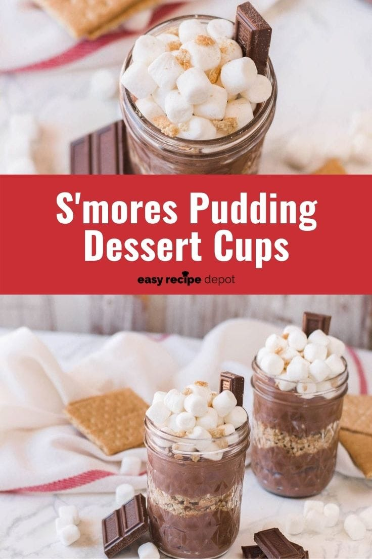 S'mores pudding dessert cups.