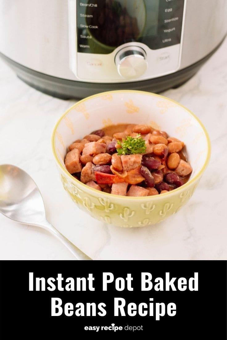 Instant Pot baked beans pressure cooker recipe.