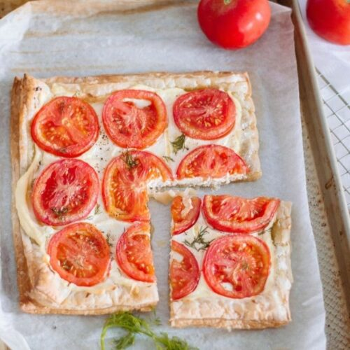 This tomato tart is the perfect addition to your family's cookbook. Serve it for lunch or at a dinner party - everyone will surely enjoy its marvelous flavors.