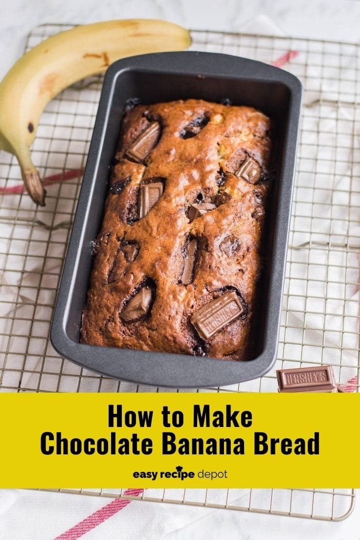 How to make chocolate banana bread.