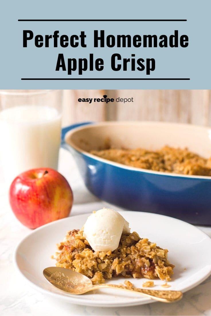 Perfect homemade apple crisp.