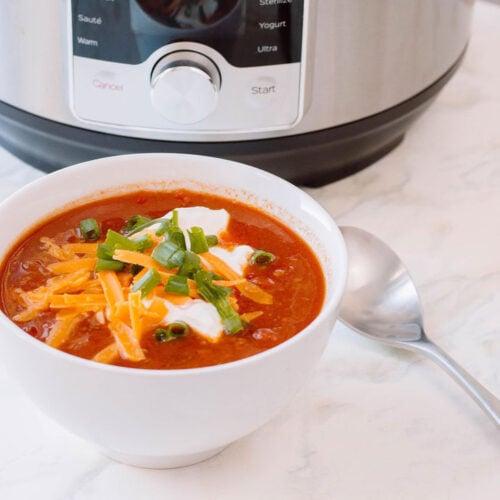 Instant Pot chili pressure cooker winter recipe